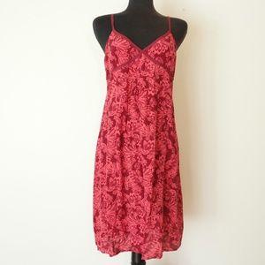 Halogen Silk Pink Tropical Print Floral Dress